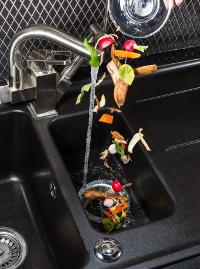 Speiseabfälle für den Küchenabfallzerkleinerer